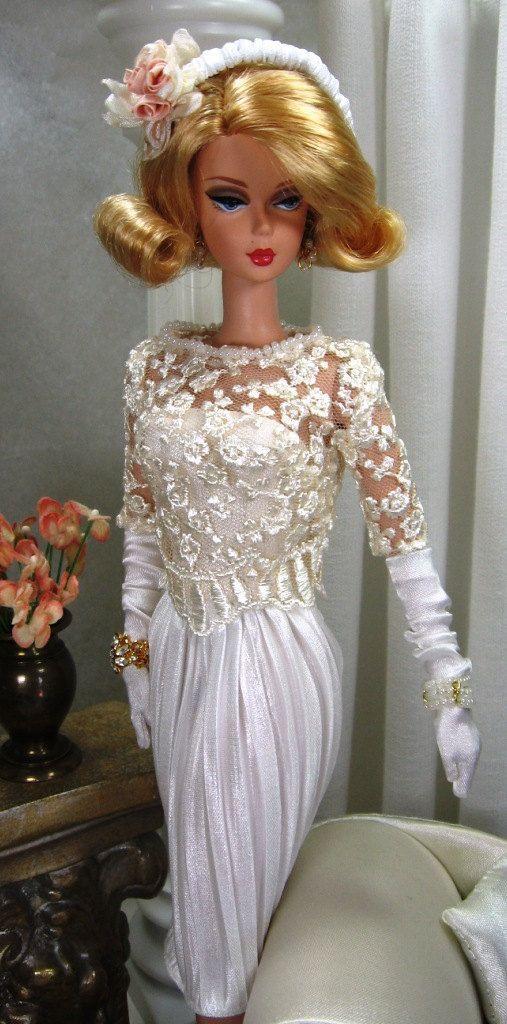 дантелена бяла рокля