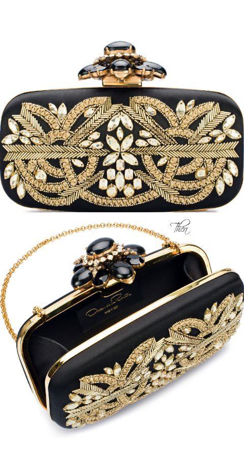 официална бална чантичка черно и златно