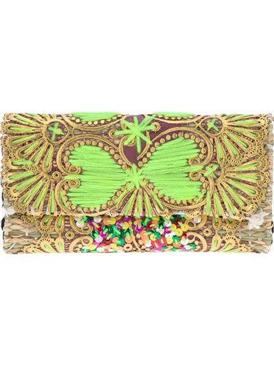зелена малка чантичка с камъни