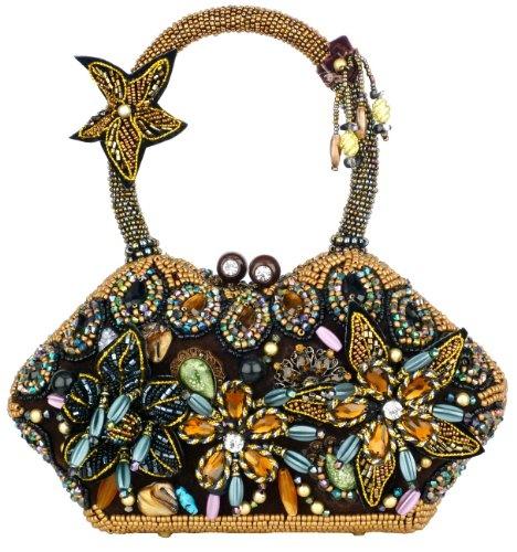 официална коктейлна чанта с камъни