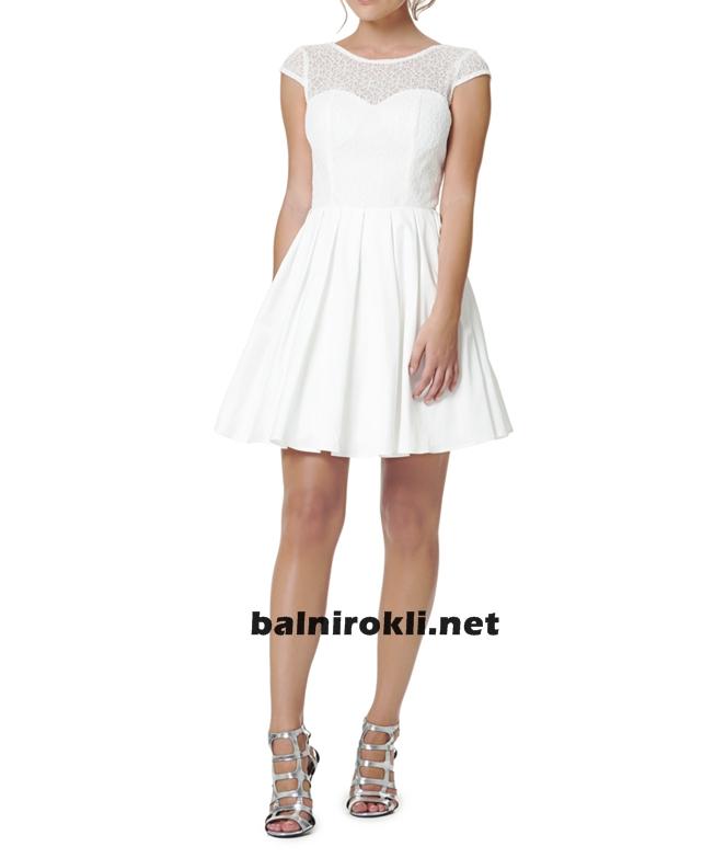 къса дантелена официална рокля 2015