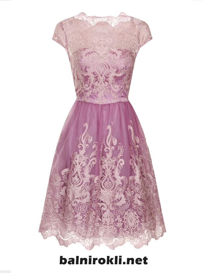 дална къса лилава рокля дантела 2015
