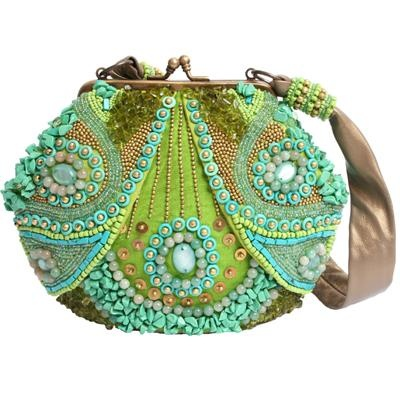 зелена бална чантичка