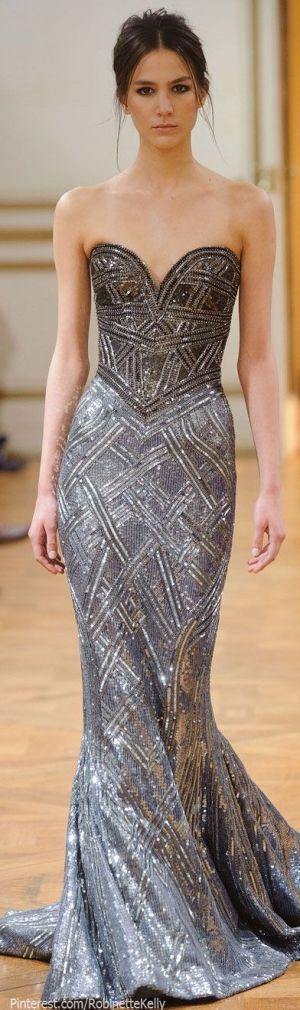 сребриста бална рокля