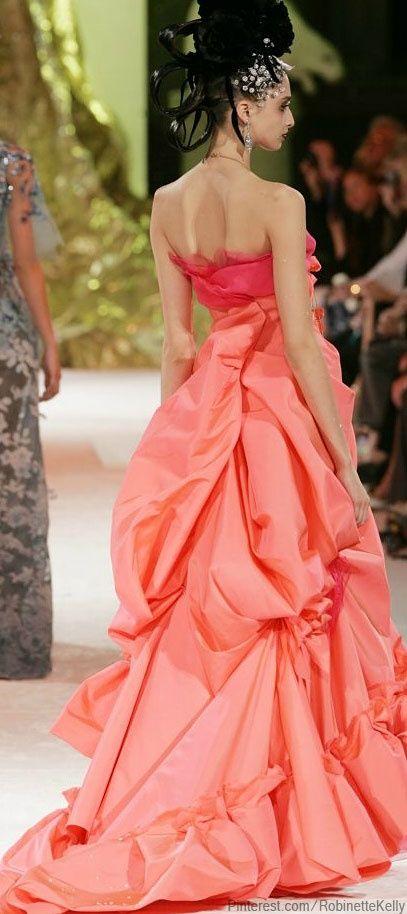 дълга бална рокля цвят корал