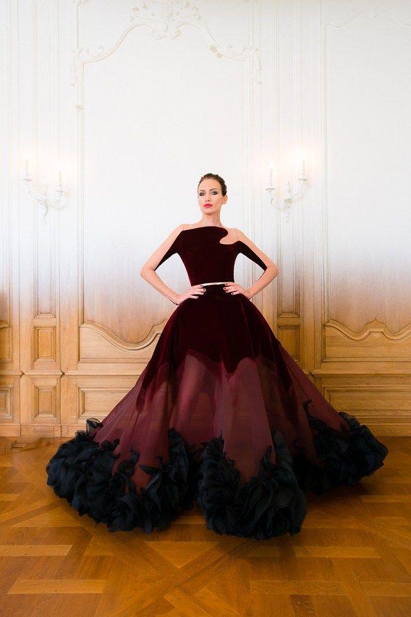 дълга бална рокля цвят бордо