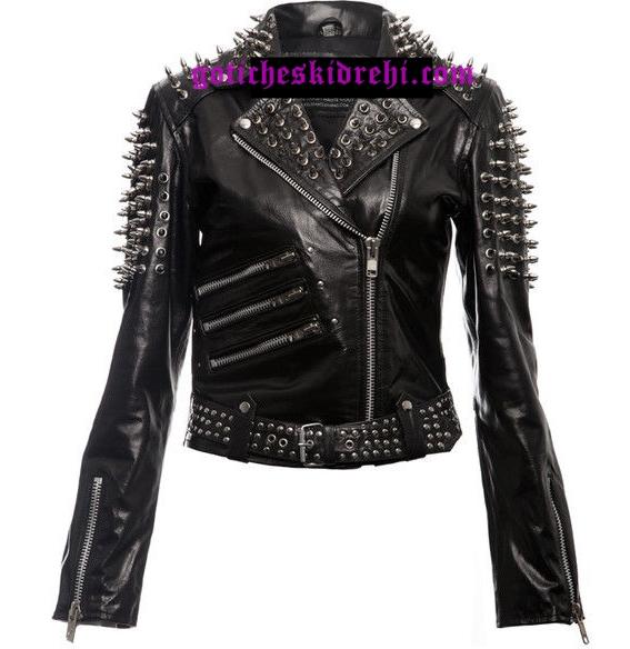 черно яке готик стил шипове