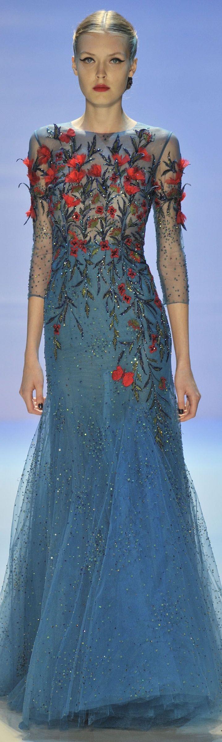 дълга синя рокля