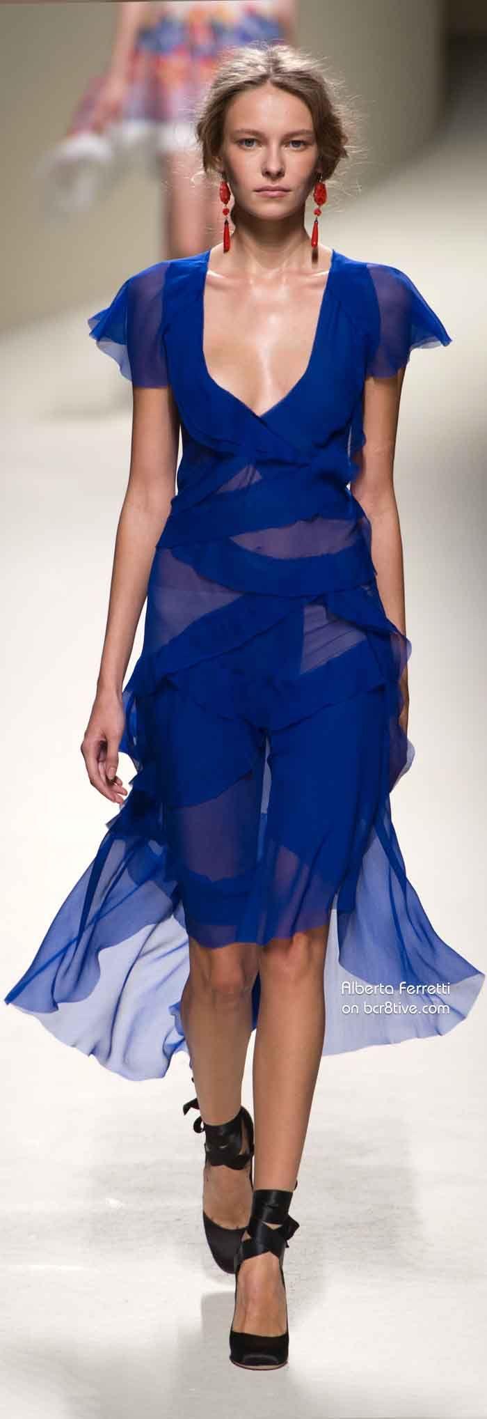 синя къса секси рокля