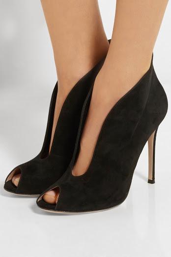 елегантни черни велурени обувки