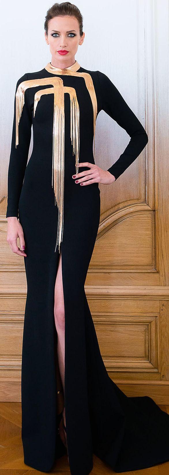 елегантна черна дълга рокля