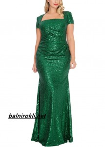 дълга блестяща зелена рокля за макси дами