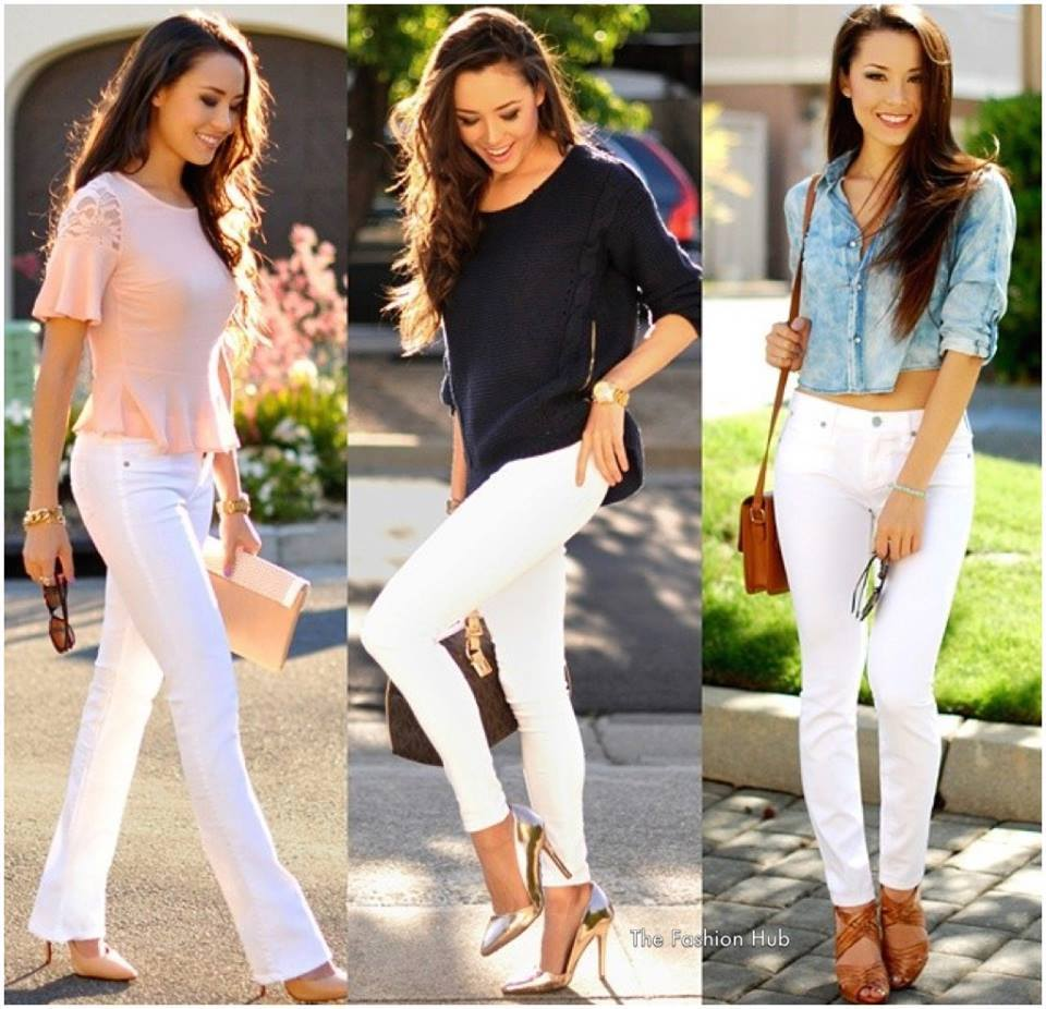 бял панталон актуален за лятото