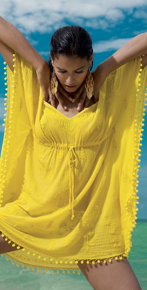 жълта рокличка