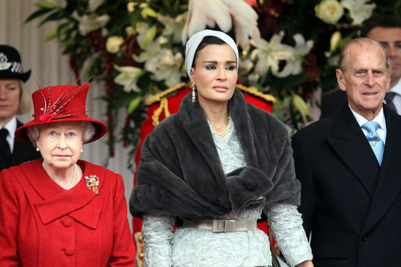 С Английската кралица