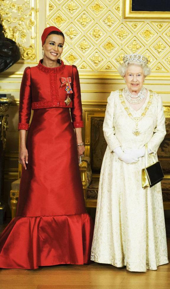 с Кралицата на Великобритания