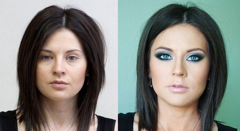 Пълна Промяна с Грим-Преди и След