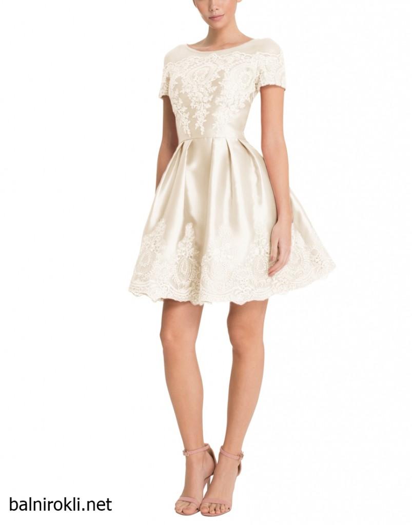 бяла къса официална рокля