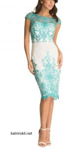 елегантна къса рокля с дантела