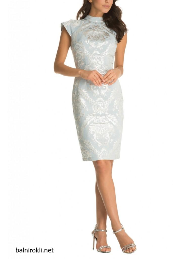 светлосиня къса рокля