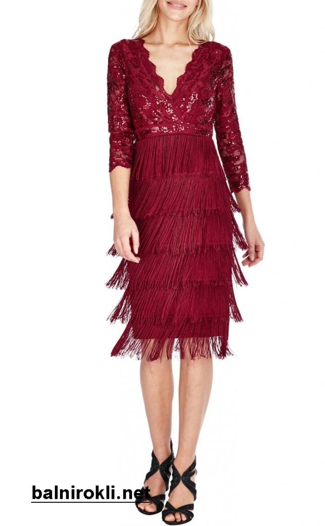 блестяща официална рокля дантела