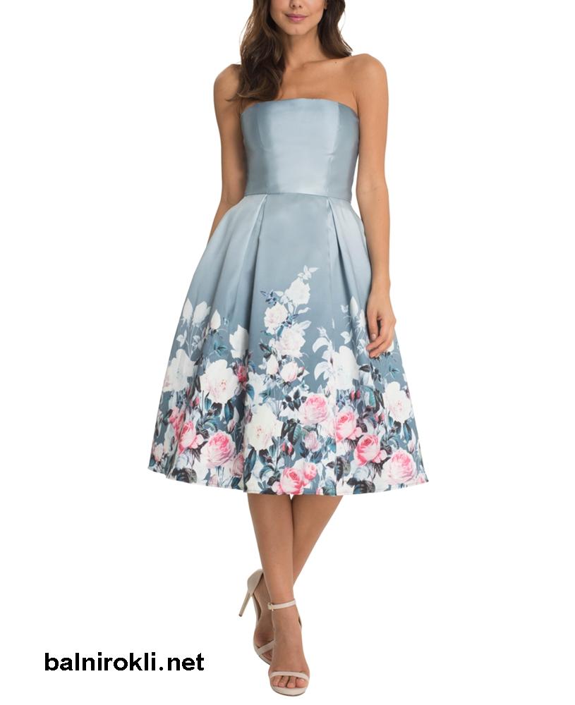 абитуриентска рокля с флорални мотиви