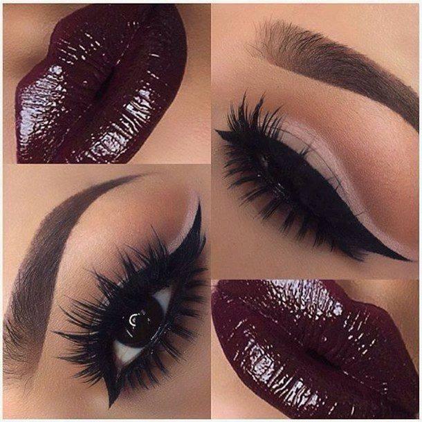 устни в цвят бордо