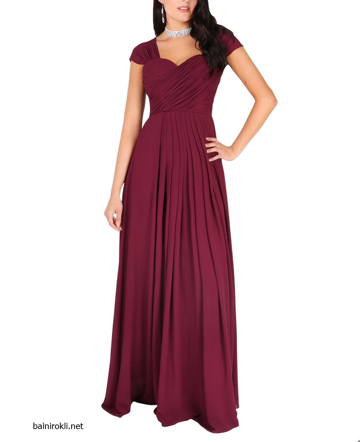 елегантна официална рокля бордо