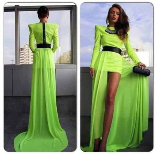 зелена официална рокля