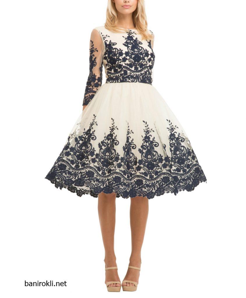 елегантна-къса-бяла-рокля