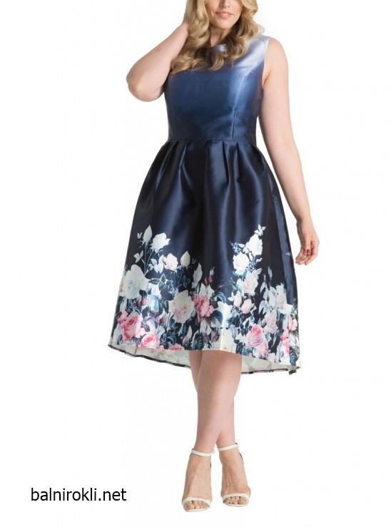 Асиметрична тъмносиня официлна рокля за макси дами