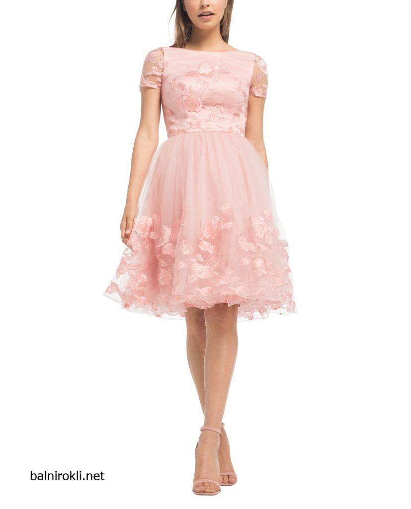 светлорозова вечерна рокля