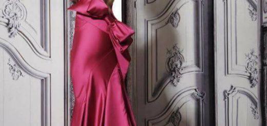 дълга официална червена рокля