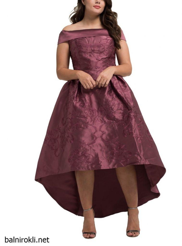официална лилава рокля сатен макси размери