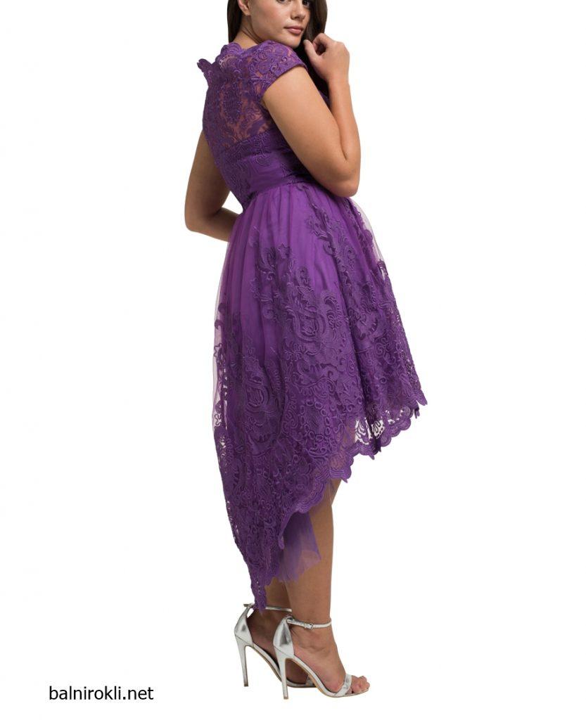официална лилава рокля тюл макси размери