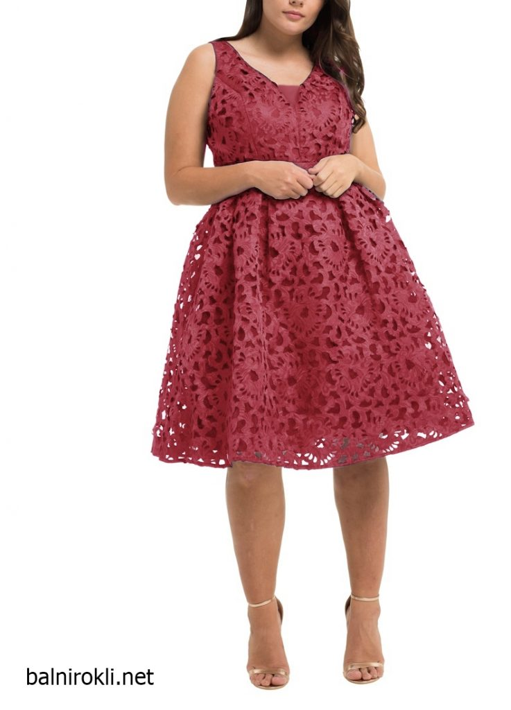 официална рокля макси размери бордо