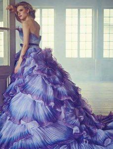 Абитуриентска Дълга СИНЯ БАЛНА рокля