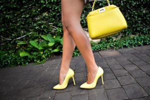Жълти Обувки и Чанта