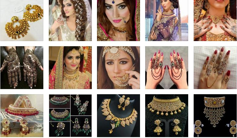 индийски стил-визия-бижута