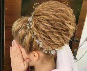 сватбени прически-официален кок