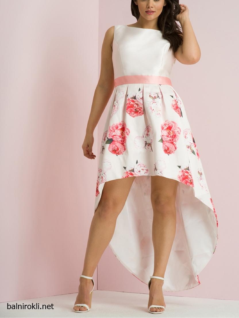 Асиметрична Бяла официална рокля за Макси дами размери 3XL,4XL,5XL,6XL,7XL