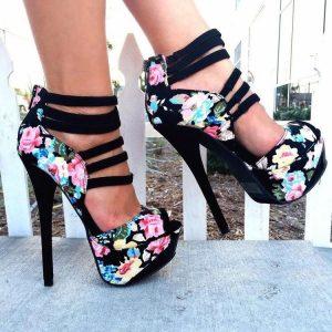 Елегантни Обувки Флорал