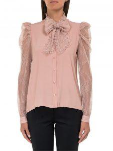 блуза в цвят норка