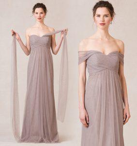 официална рокля цвят сива норка