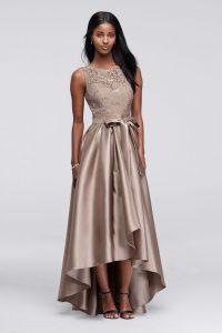 официална рокля в неутрален цвят сива норка