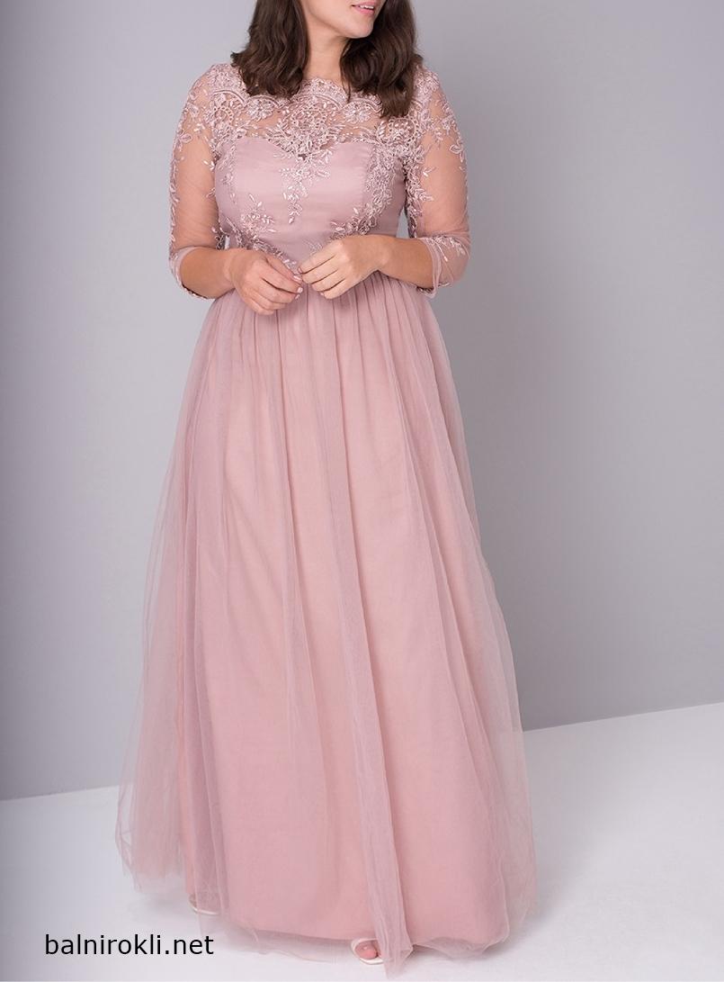 дълга рокля макси дами цвят норка