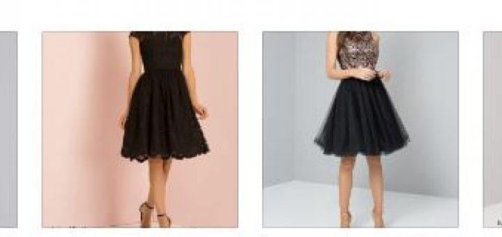 Къси черни бални рокли 2018