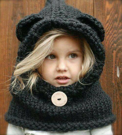 плетена детска шапка
