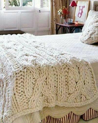 плетена покривка за легло