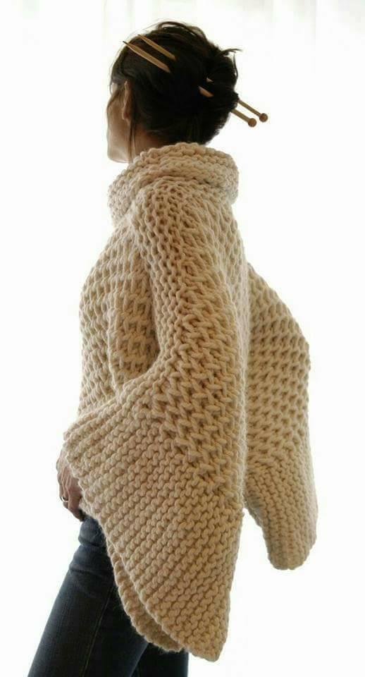 плетен пуловер
